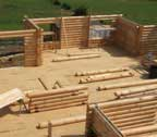 log cabin home wall construction maryland