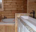log cabin home bathroom