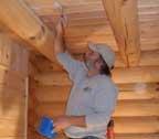 log cabin home finishing
