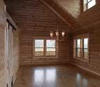 log cabin home interior finish