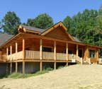 home with log siding