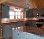 log cabin home kitchen