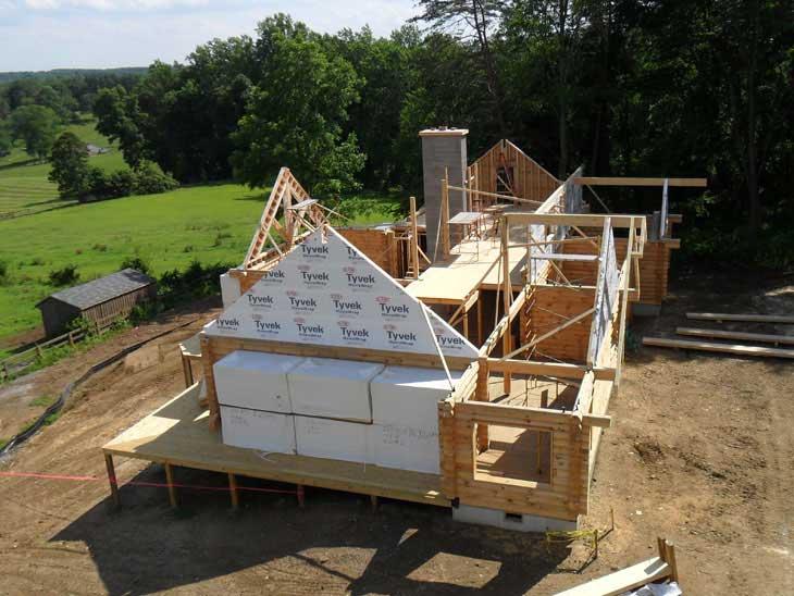 log home construction monkton manor