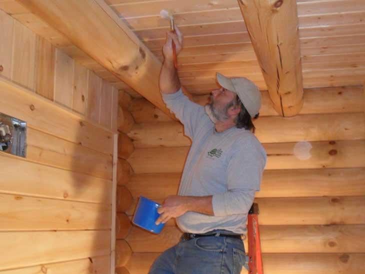 log cabin home interior finishing