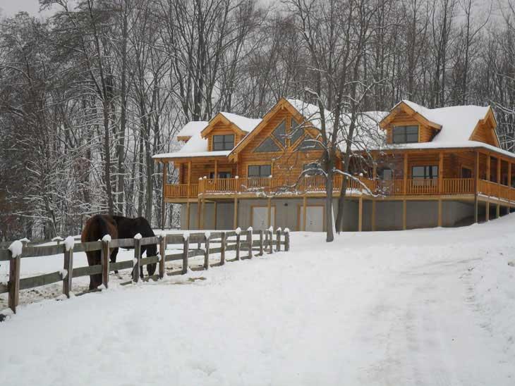 log cabin home monkton manor