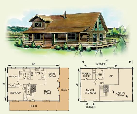 berkeley log home and cabin floor plan