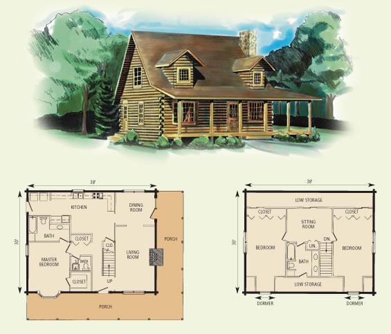 brooke log home and log cabin floor plan