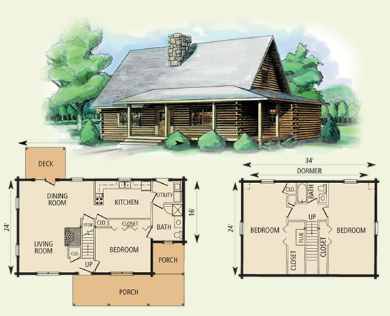 cabell log home