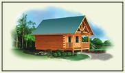 log home plans cabin garages