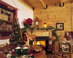 log home christmas