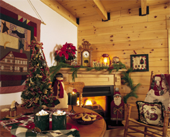 log home christmas