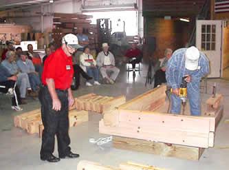log home building seminar and plant tour