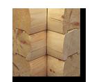 Interlocking log cabin kit corner notch