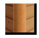 vertical log home corner cover