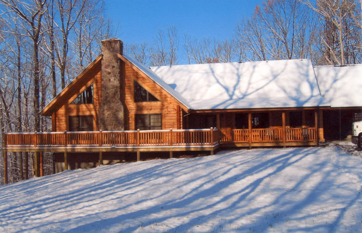 log home, custom log home, warm log home