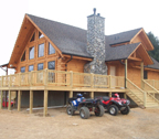 lakefront log home