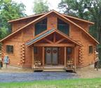 Contemporary Log Home