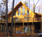 Modified Morgan log home
