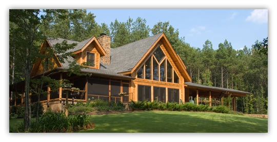 finished log home
