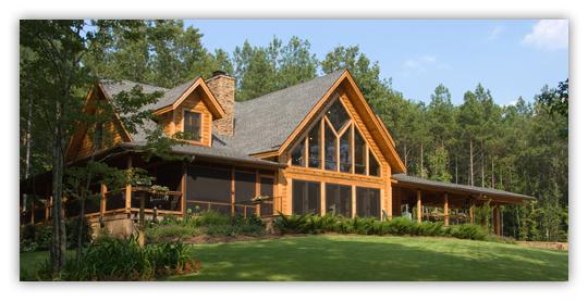 finished log home