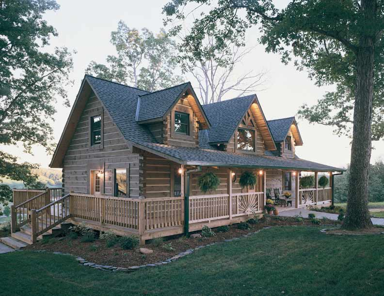 Custom log cabin home