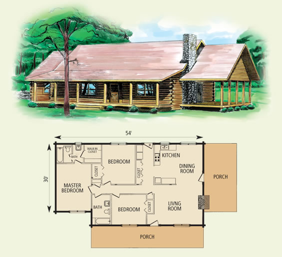 fairfield log home and log cabin floor plan