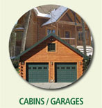Cabin and garages