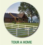 tour a log home