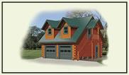 log cabin garage kits