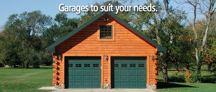 Prefab Garages with Log Siding – Log Garage Apartment Plans