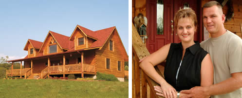 Happy Log Home Owners