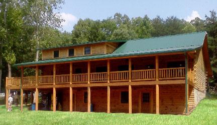 Katooga Boy Scout Camp log cabin  center