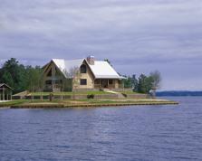 lake log home