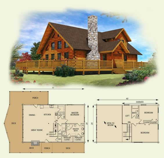 custom log home floor plans