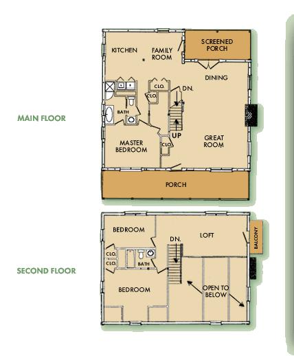 Custom Log Home Floor Plan