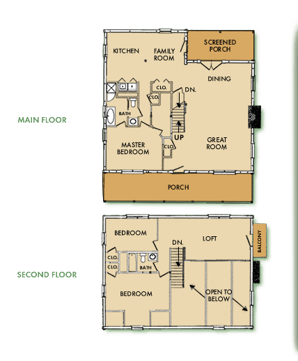 Custom Log Home Floor Plan