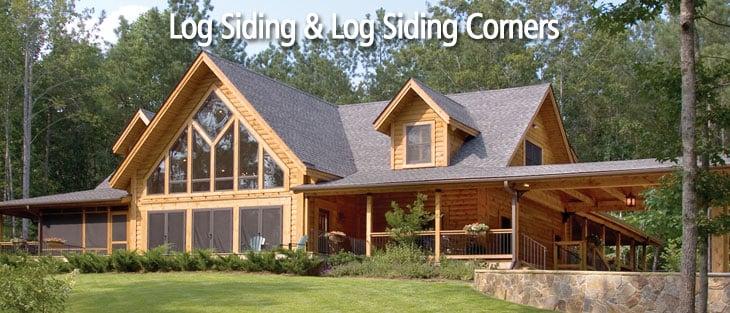 log siding and log siding corners