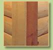 log siding corner with contemporary design