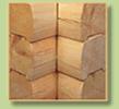 interlocking log siding corner