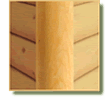 log cabin siding vertical round corner