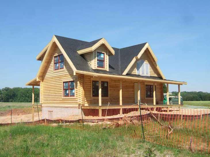 sportsman log cabin home