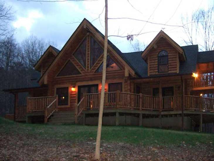 custom log cabin home maryland
