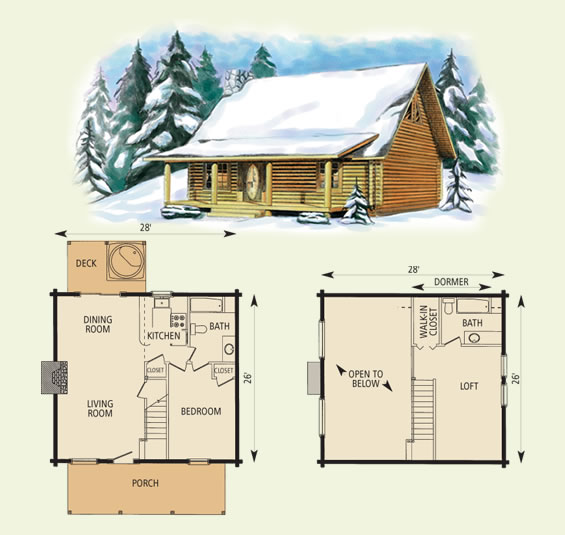 northpoint log home and log cabin floor plan