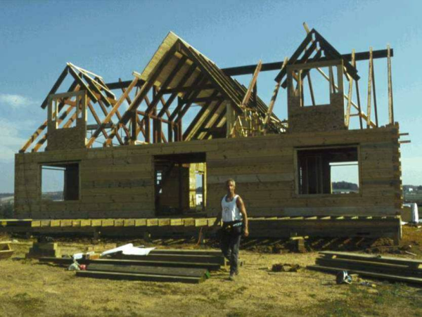 log home construction