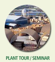 log home plant tour and building seminar
