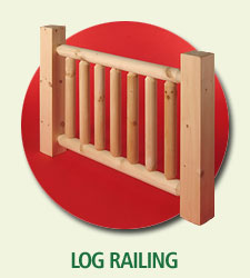 log home railing