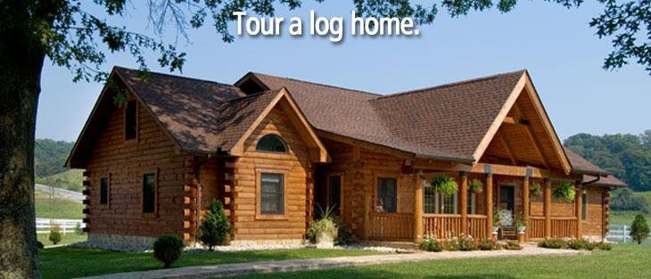 Custom log home, log cabin home, cozy log cabin
