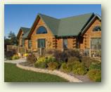 custom log home