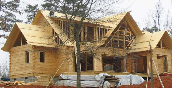 log home dry in construction