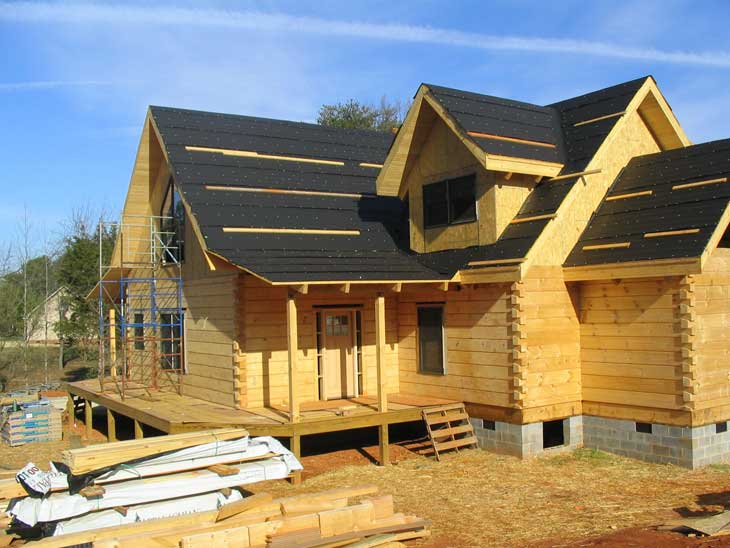 log home dry in